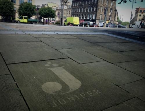 Clean Wash Reverse Graffiti Edinburgh Campaign for Juniper