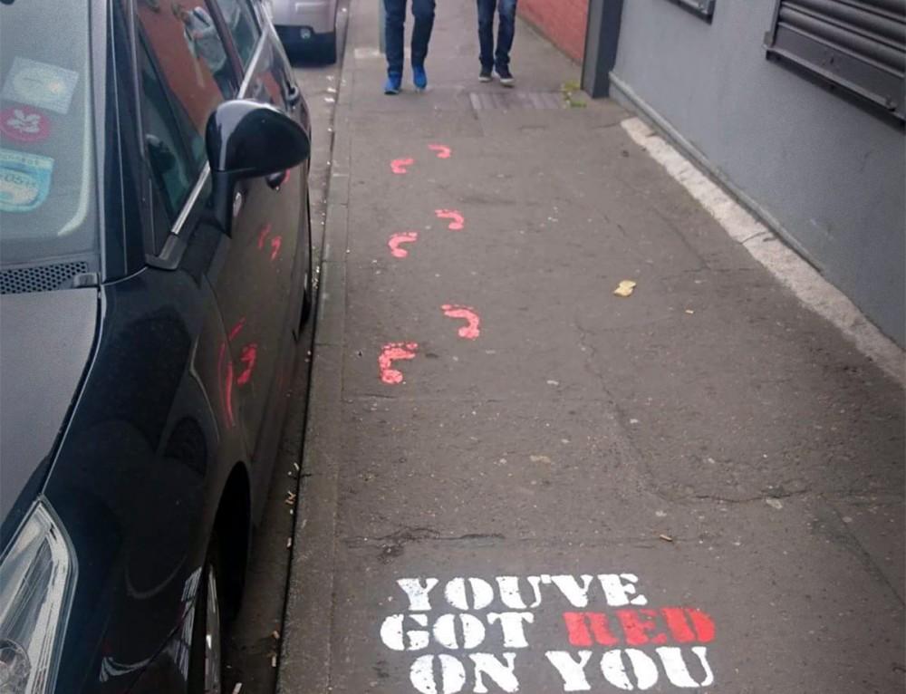 A street teaser for The Edinburgh Film Festival